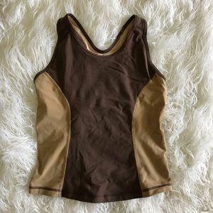 Lululemon Vintage Brown Tan Racerback Tank Top 8